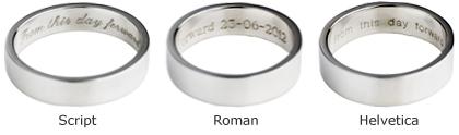 machine engraved wedding rings - Wedding Ring Inscriptions