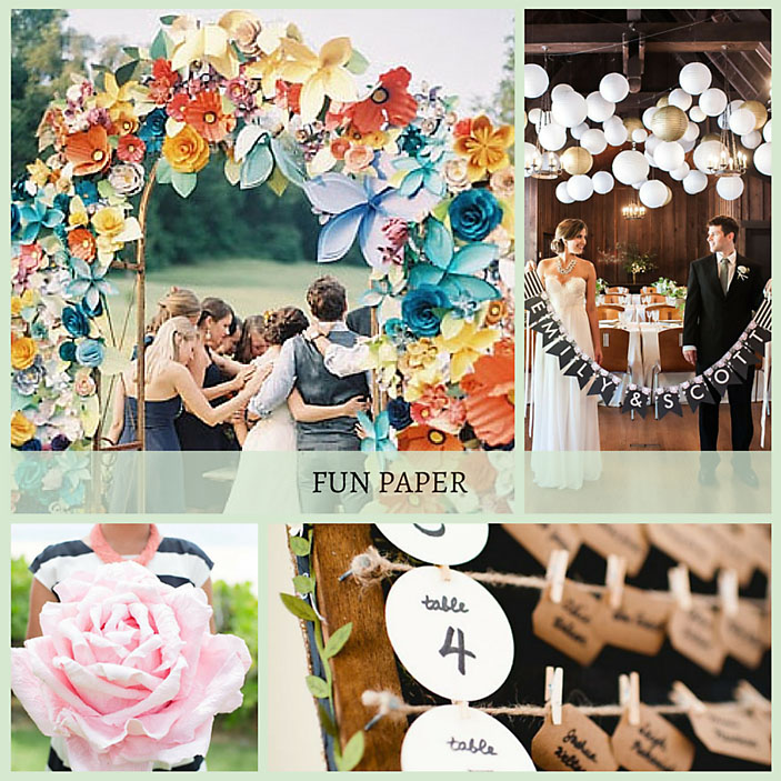 Paper wedding decorations