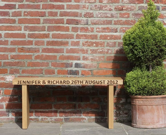 Personalised Wedding Bench - Gift