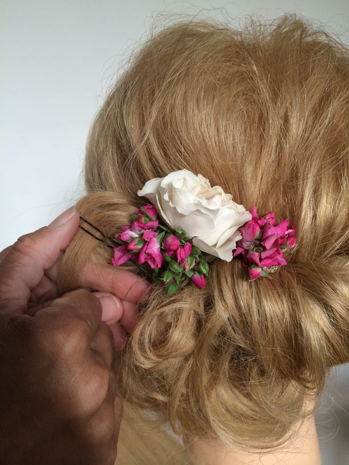 Wedding Hairstyles - Fresh Flowers