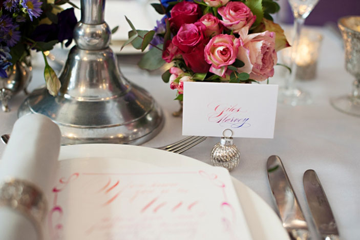 Wedding Table Decoration - Place names