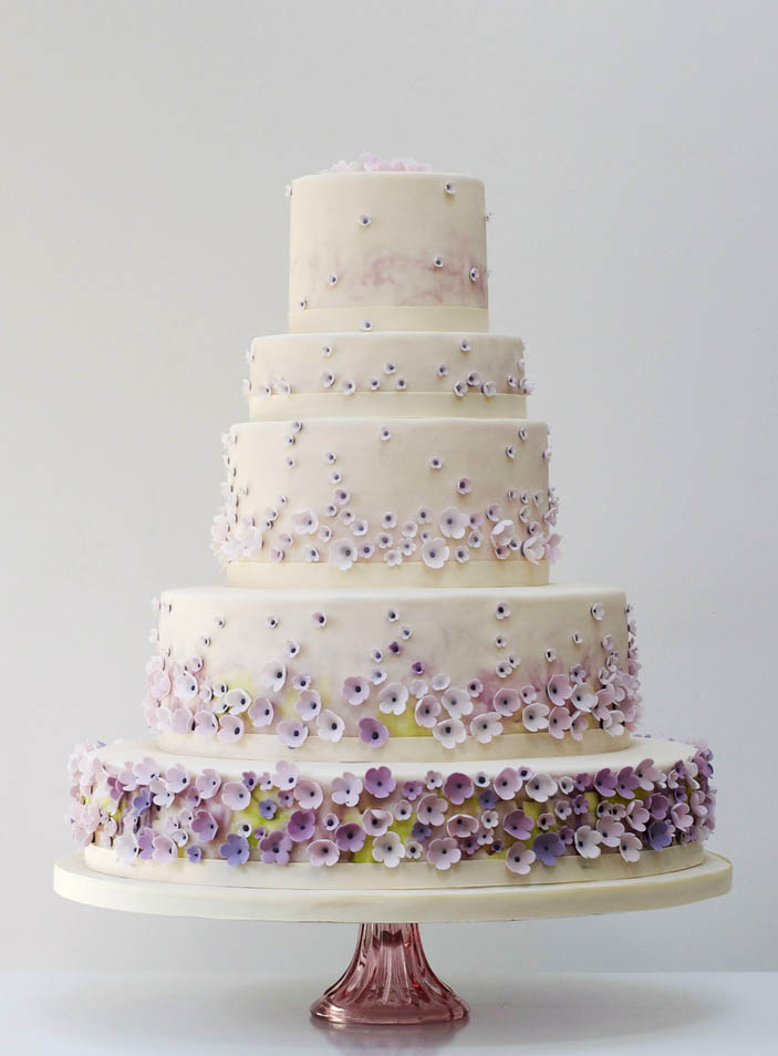 Ombre wedding cake decorations