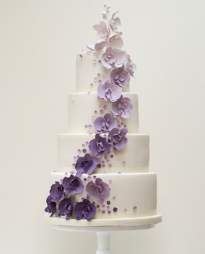 Wedding Cake - Ombre in purple