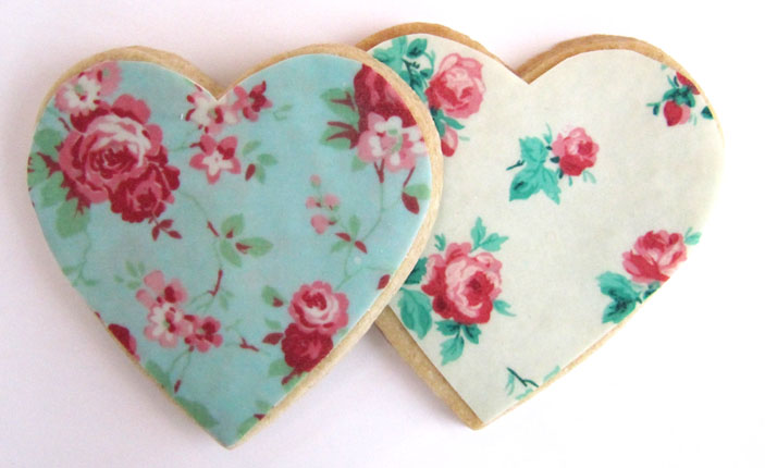 Love Heart Cookie Wedding Favours
