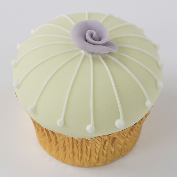Iced Fondant Wedding Cupcake