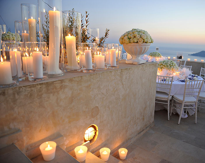 Candlelit Wedding Flowers
