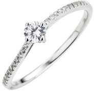 Less is more engagement ring