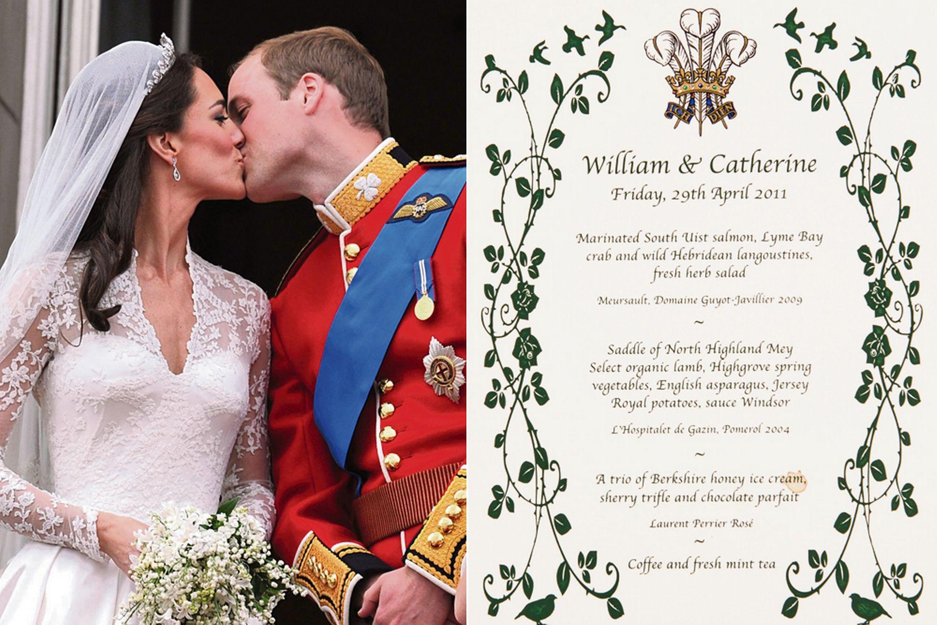 Revealed The Royal Wedding Breakfast