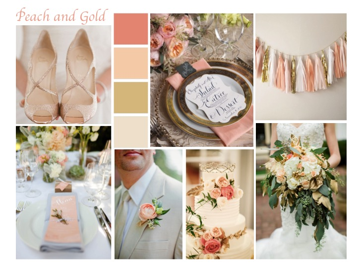 Peach and Gold Mood board