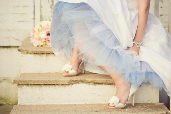 wedding shoes on steps