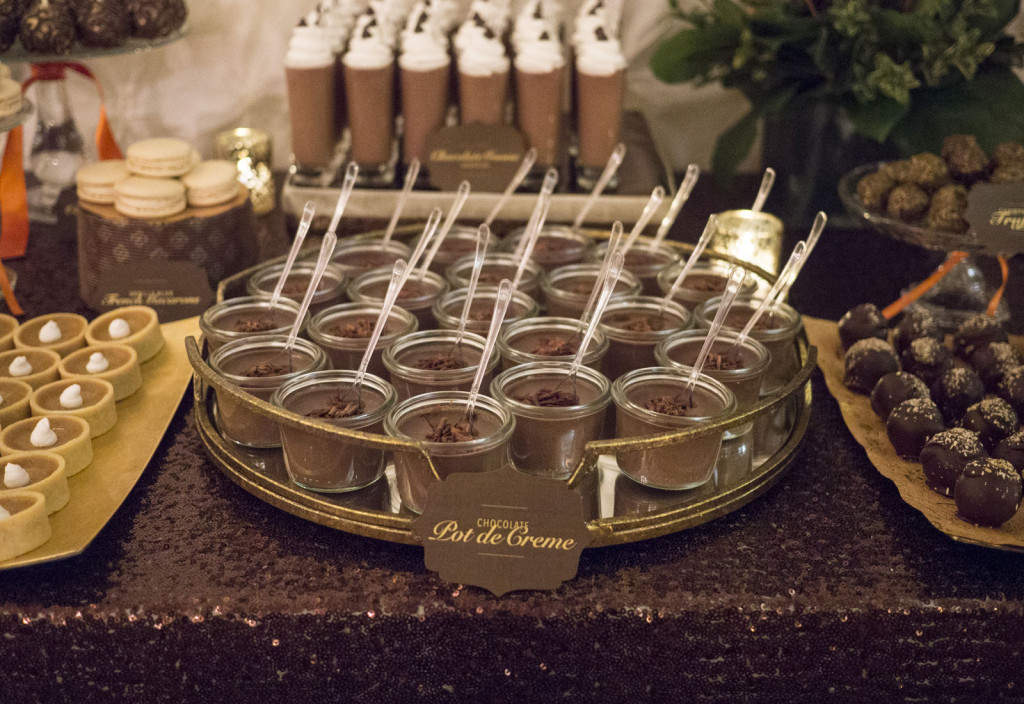 chocolate table