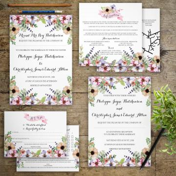 Cheap wedding invitations - Gray Starling Designs