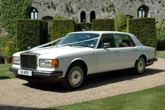 Wedding Cars and Transport - White Rolls Royce Wedding Car