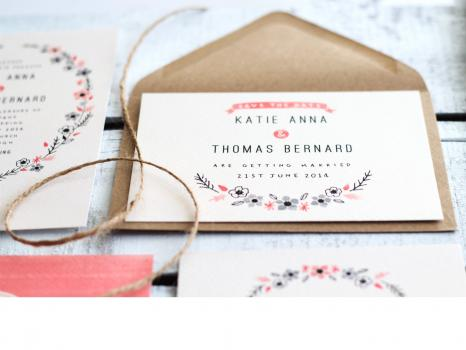 Wedding place cards - The Lovely Drawer