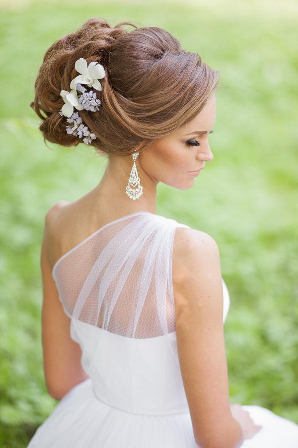 Причёски для невесты на длинные волосы