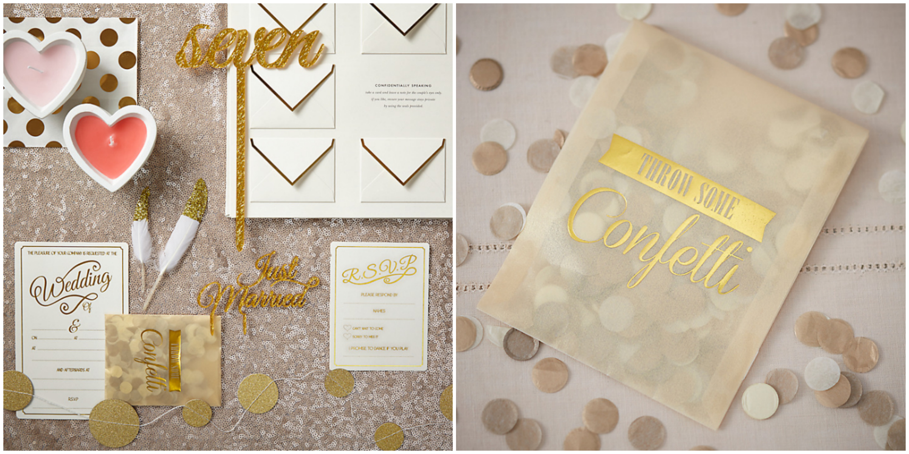 Ginger Ray Ivory and Gold Wedding Stationery