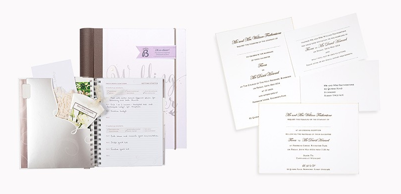 wedding planner and stationery