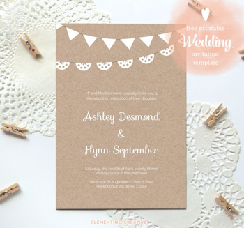 Wedding Invitation Template - Wedding Invitations - WeddingPlanner.co.uk