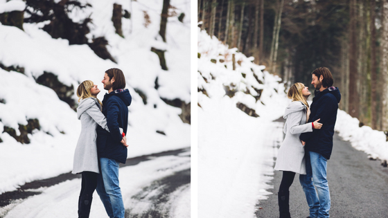 wedding, engagement photoshoot, wedding photoshoot, real wedding, swiss mountains, swiss wedding, bride, bride to be, winter wedding, winter engagement