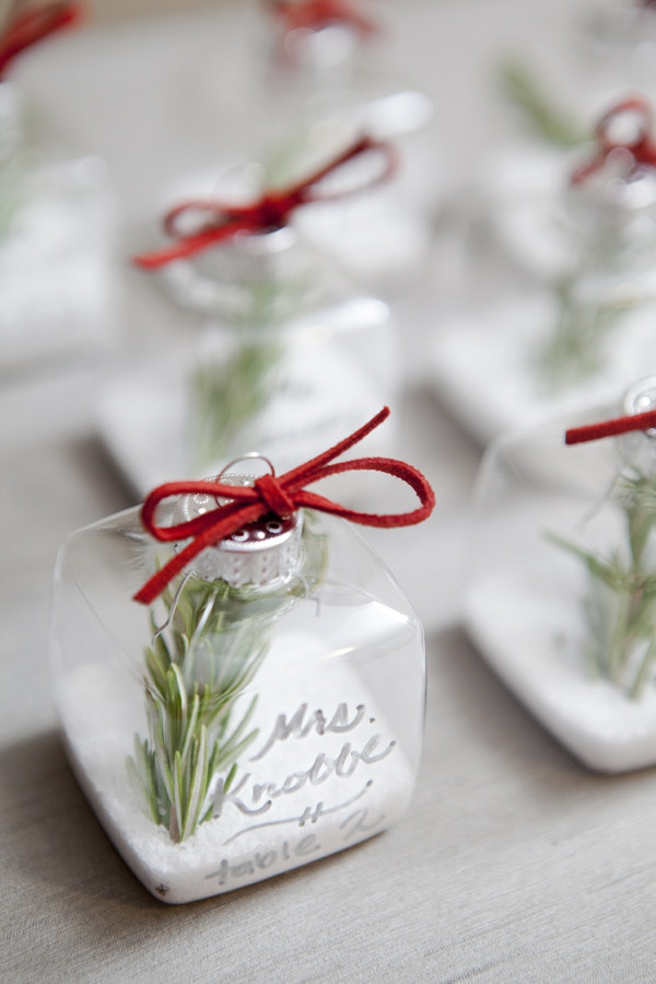 Salt ornament place cards