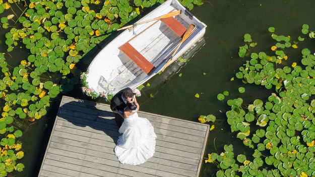 Drone Wedding Aerial Shot