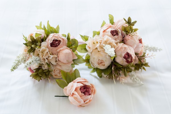 Wedding Flowers, Dusty Pink