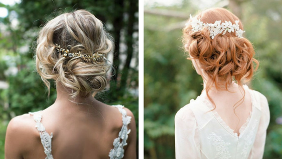 bridal hair, wedding hair, bridal beauty, Camilla J Collins, hair styles