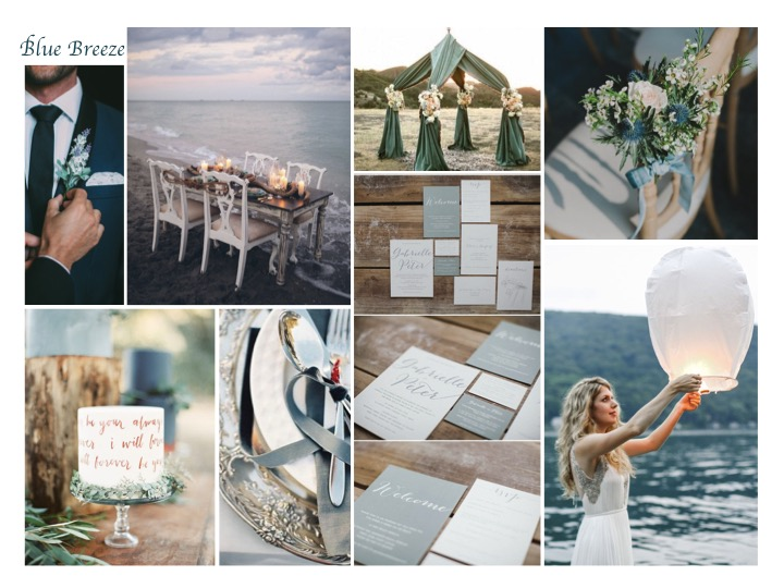 blue sea wedding inspiration, wedding inspiration, mood board, lake wedding