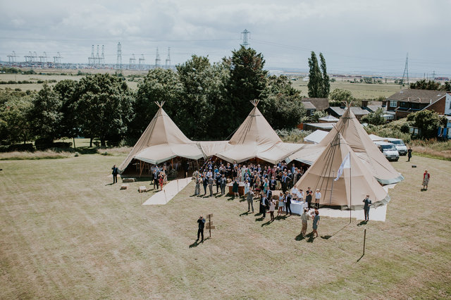 festival tipi wedding