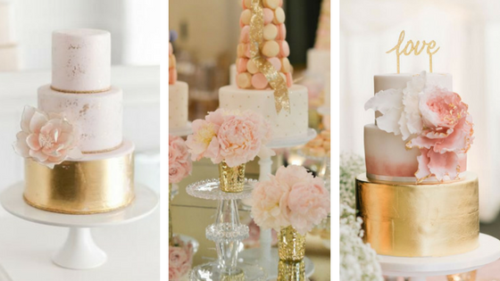 Wedding Cakes, Wedding Inspiration, Inspire Me, Gilded Rose, Blush, Gold