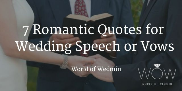 7 romantic quotes for wedding speech or vows