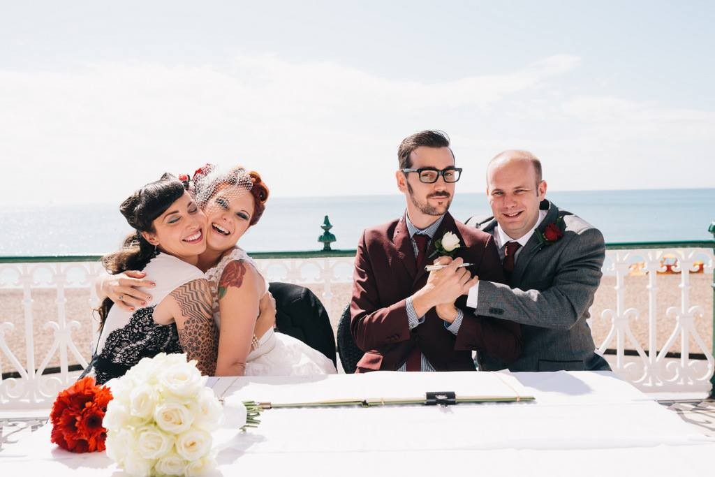 wedding, real wedding, wedding inspiration, rock and roll wedding, quirky wedding, proud brighton, proud london