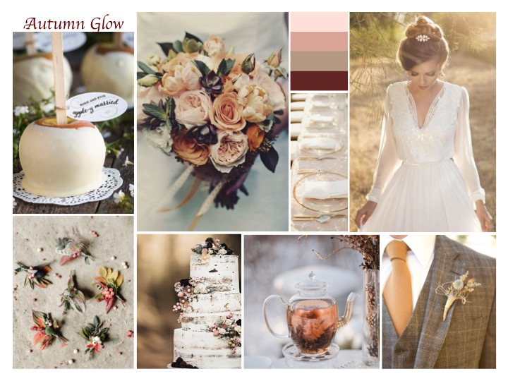 autumn wedding mood board