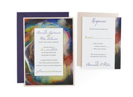 Artistic Wedding Invitation - Wedding Invitations - WeddingPlanner.co.uk