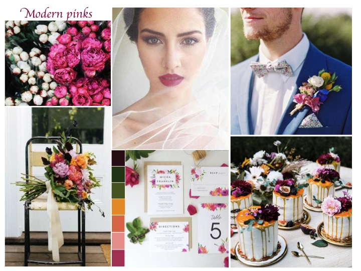 pink wedding ideas, modern pink wedding, hipster wedding pink