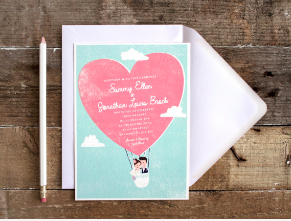 The Lovely Drawer wedding invitations