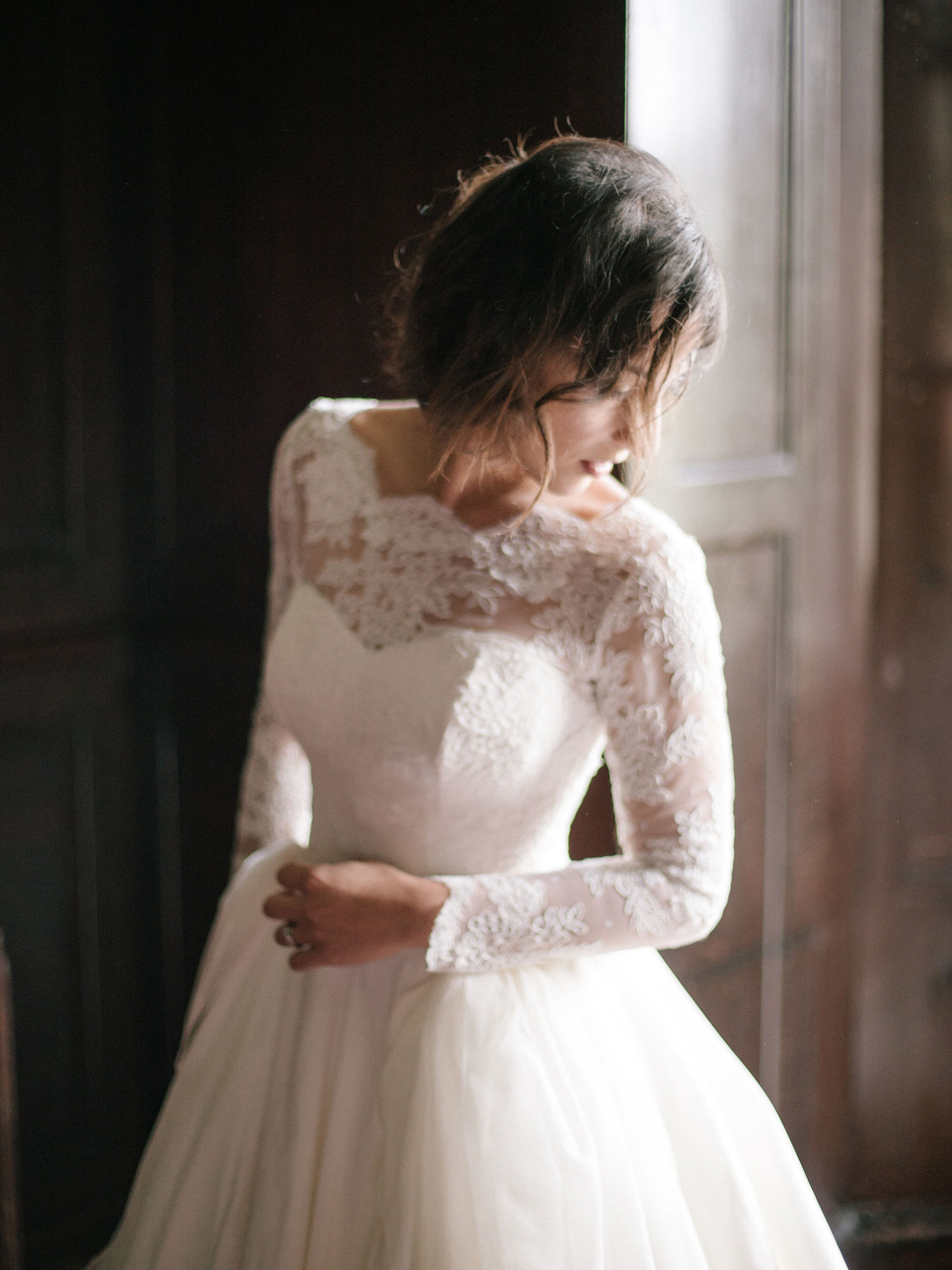 Caroline Arthur wedding dress designer