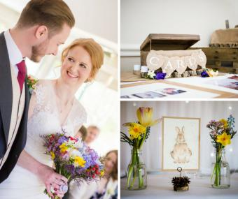 Lizzy & Rob's Springtime Donnington Valley Wed...
