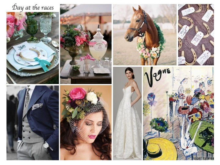 ascot wedding, hose racing wedding, wedding moob board