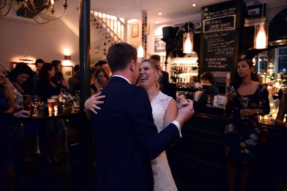 Matt and sam, hack and hop wedding, pub wedding, london wedding, london pub wedding venue