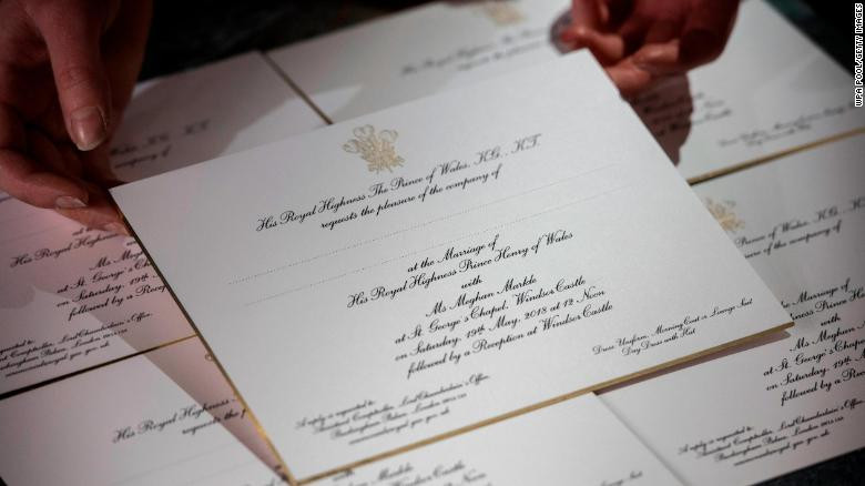 royal wedding invitations, harry and meghan