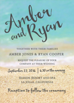 Beachside Wedding Invitation - Wedding Invitations - WeddingPlanner.co.uk