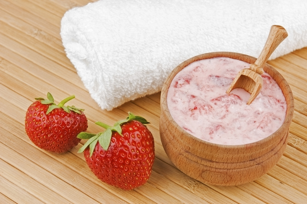 strawberry skin mask, homeamade skin mask