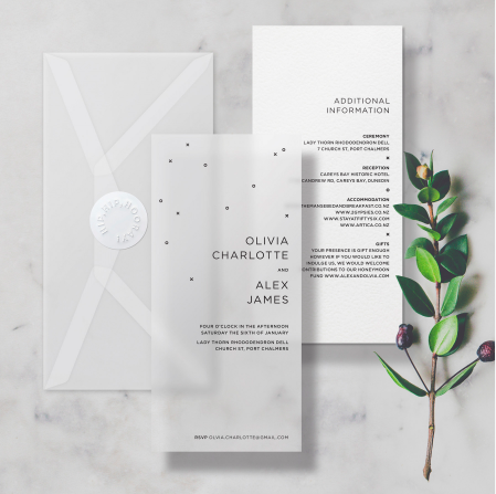 Crum&Co wedding invitations