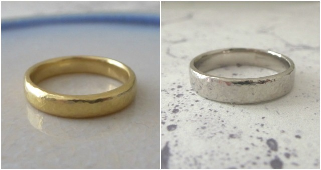 nikki stark jewelley, wedding bands, gold weddng band