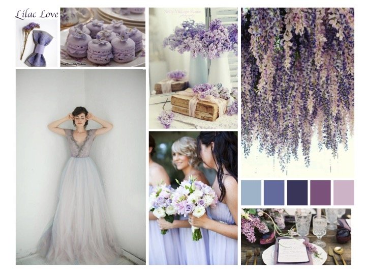 lilac and lavender wedding theme