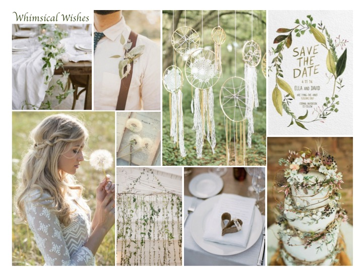 whimsical wedding wishes mood board