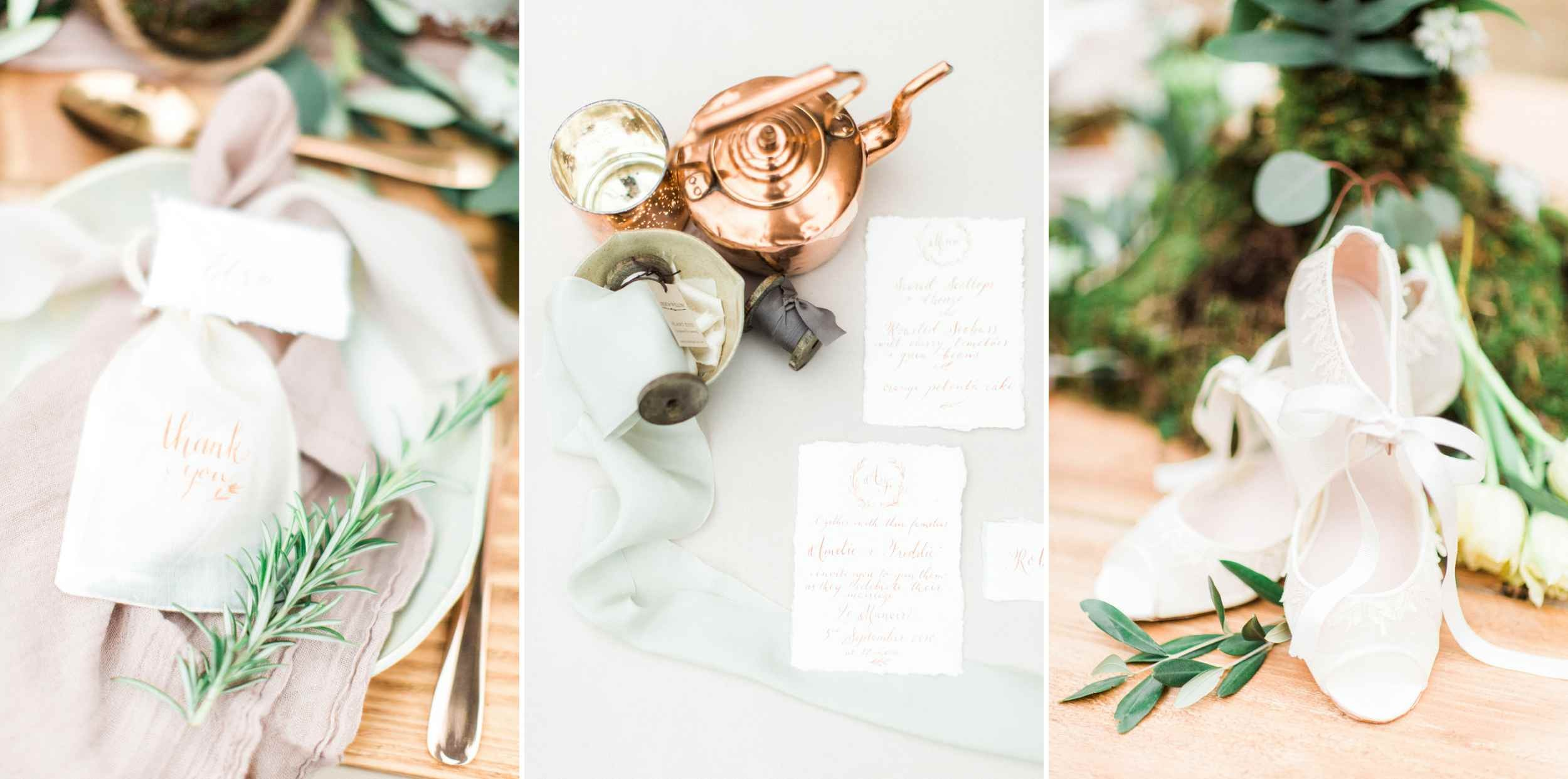 wedding inspiration, botanical inspiration, styeled shoot, greenery wedding