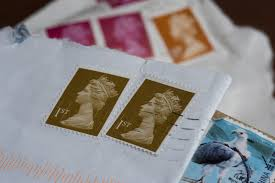 stamps and envelopes