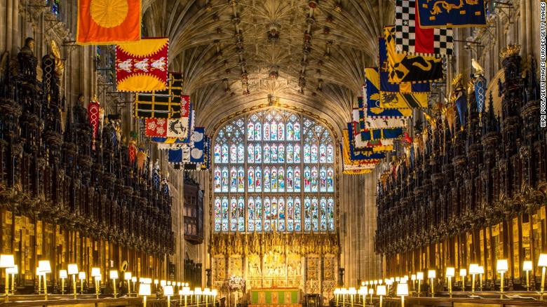 st georges chapel, windsor castle, royal wedding, harry and megan